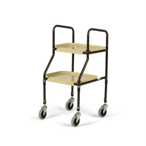 Days 199F Adjustable Height Plastic Shelf Tea Trolley